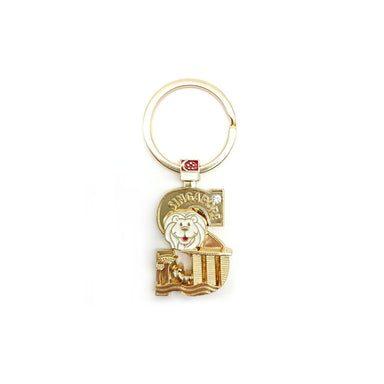 Gold Merlion Alphabet Keychain - S Local Keychains Guardian Angel