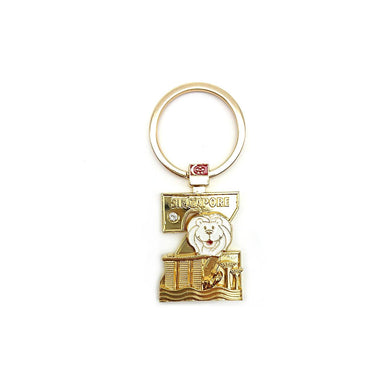 Gold Merlion Alphabet Keychain - Z Local Keychains Guardian Angel