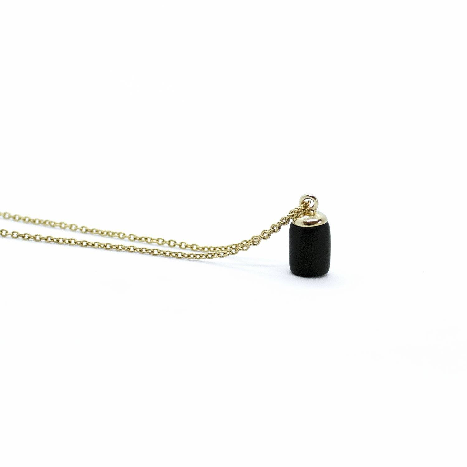 Gold Necklace - Tiny Weight Charm - Necklaces - 5mm Paper - Naiise