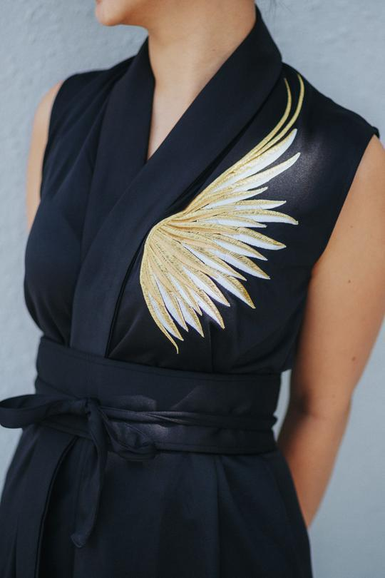 Golden Wings Black Blazer Dress Dresses Ans.ein
