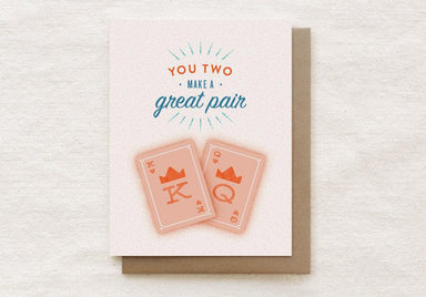 Great Pair K & Q - Engagement, Wedding Greeting Card Wedding Milestone Cards Quirky Paper Co.