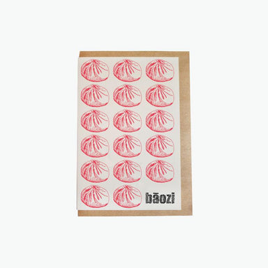 Greeting Card - Baozi pattern Pinyin Press