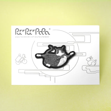Grey Moon Running Cat Pin Pins Purr Purr Papa