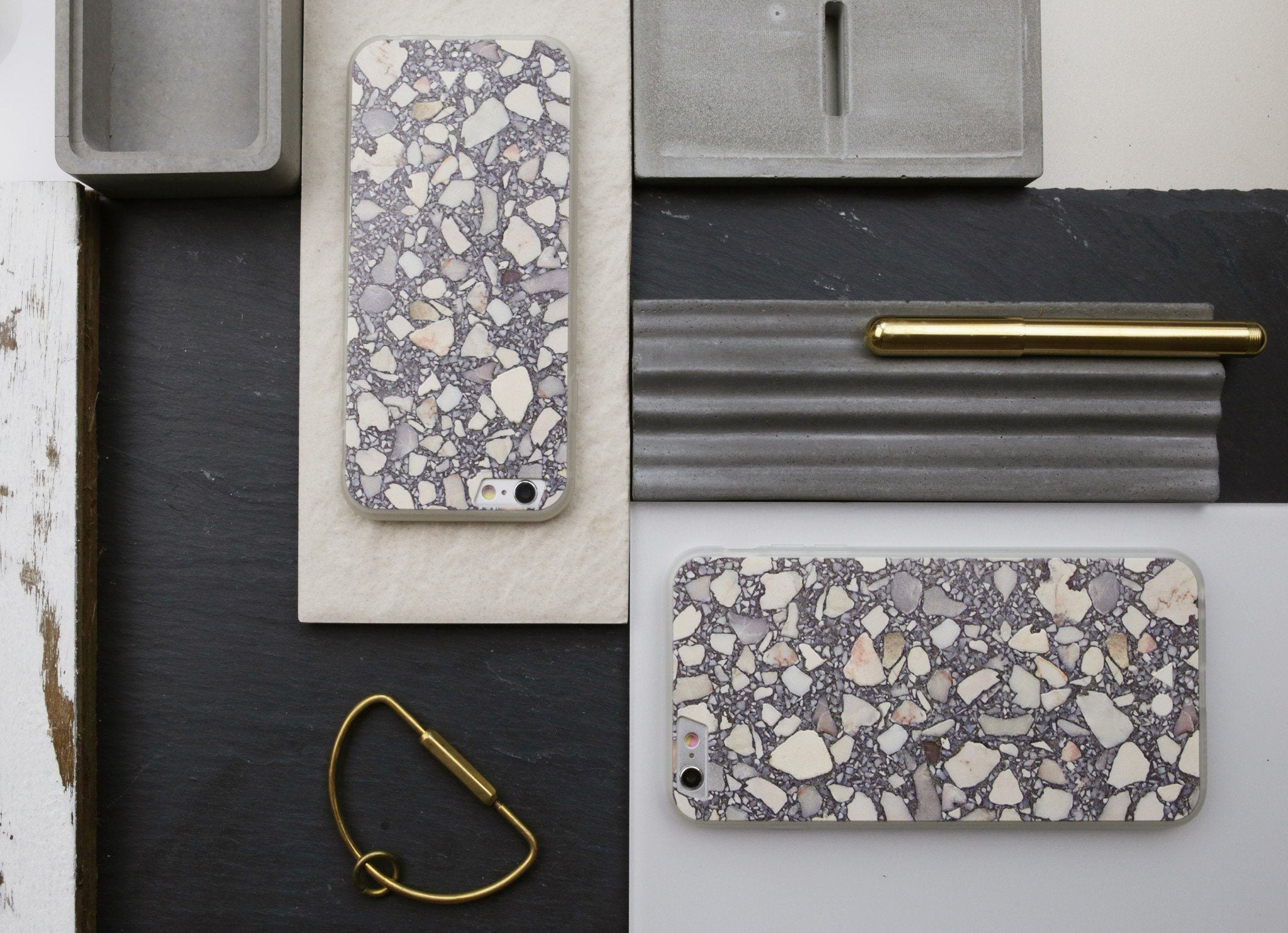 Grey Terrazzo iPhone Case - iPhone 6s - Naiise