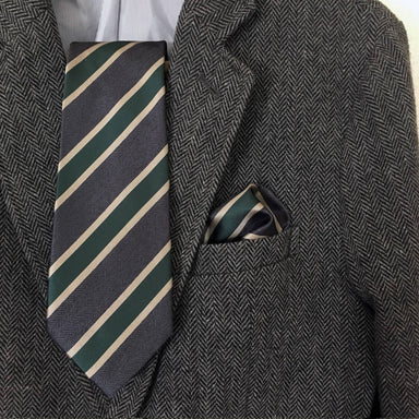 Grey With Vanilla Green Stripe Set - Ties - Tuesday Evening - Naiise