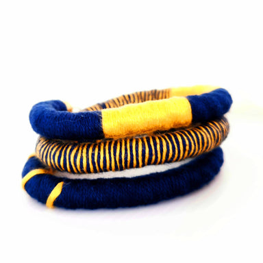 Tribeca Multi-wear Rope Necklace/Bracelet - Navy/Mustard Necklaces Playtime Rebs Studio