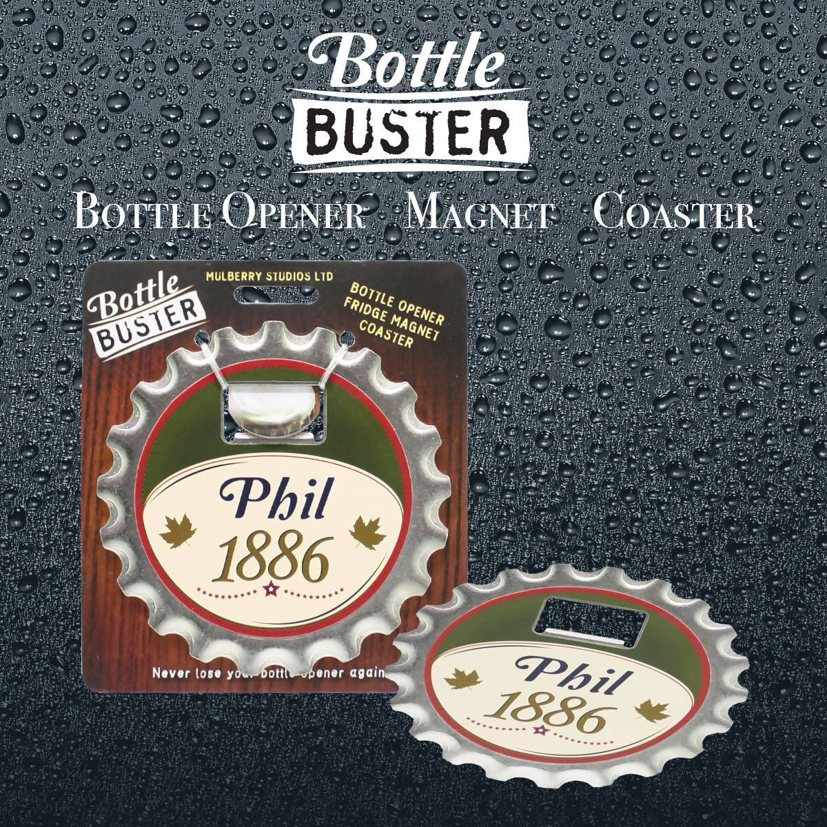 BOTTLE BUSTER - Best Bottle Opener : Phil - Bottle Openers - La Belle Collection - Naiise