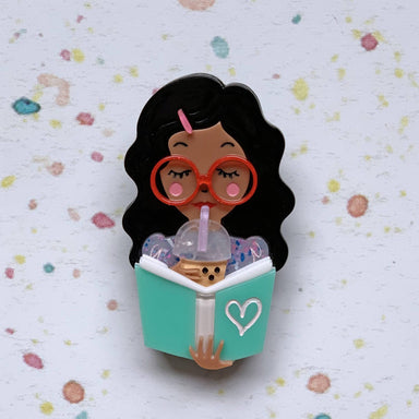 Simple Joy (Brown Beauty) Brooch - Brooches - She Loves Blooms - Naiise