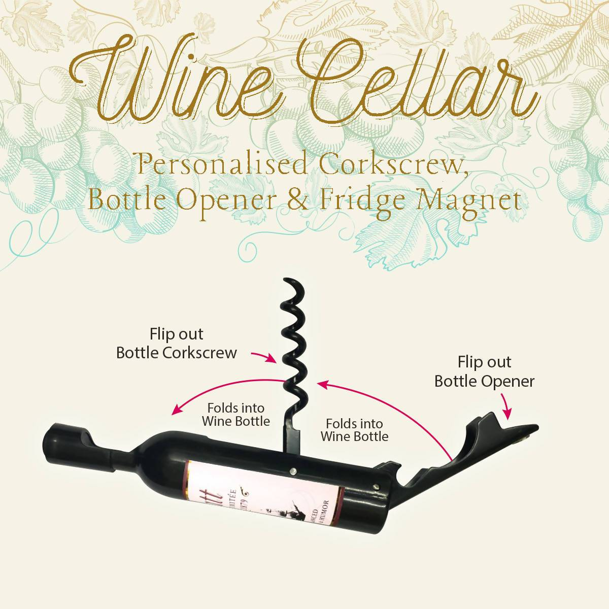 WINE CELLAR - For Wine Lover : Note to Self.. Drink Wine - Bottle Openers - La Belle Collection - Naiise
