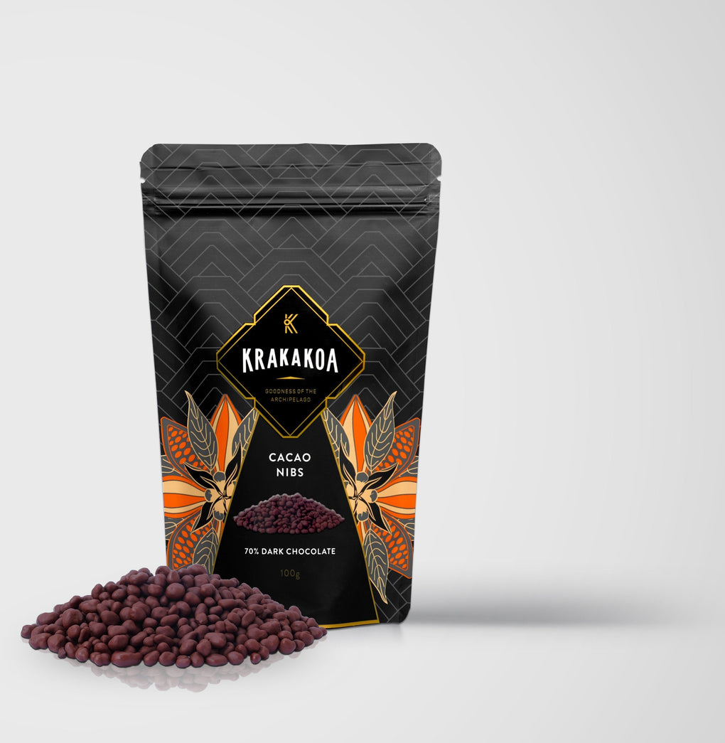 Halal-Certified Cocoa Nibs with 70% Chocolate Snack (Krakakoa) Chocolate Beans to Bars