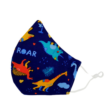 Handmade Kids Reusable Face Mask – Dinosaur Navy - New Arrivals - Zigzagme - Naiise