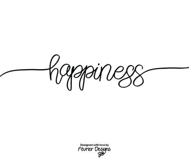 Happiness Font Card Generic Greeting Cards Fevrier Designs