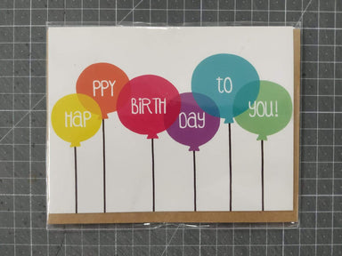 Happy Birthday Balloons Card - Birthday Cards - Fervier Designs - Naiise