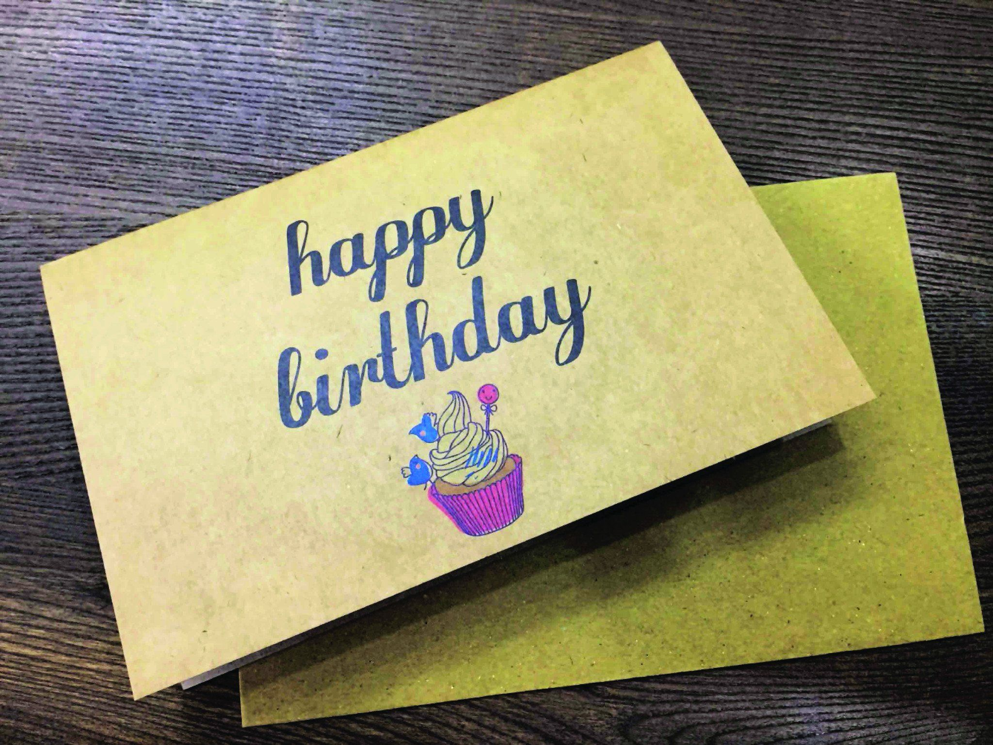 Happy Birthday Cupcake Greeting Card - Birthday Cards - Papermix - Naiise