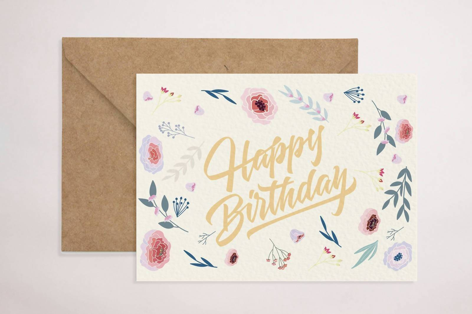Happy Birthday Floral Card - Birthday Cards - YOUNIVERSE DESIGN - Naiise