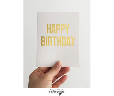 Happy Birthday Gold Card - Birthday Cards - Fevrier Designs - Naiise
