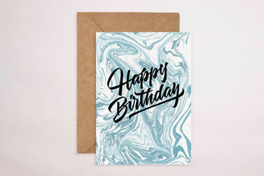 Happy Birthday(Blue Swirls) Card - Birthday Cards - YOUNIVERSE DESIGN - Naiise