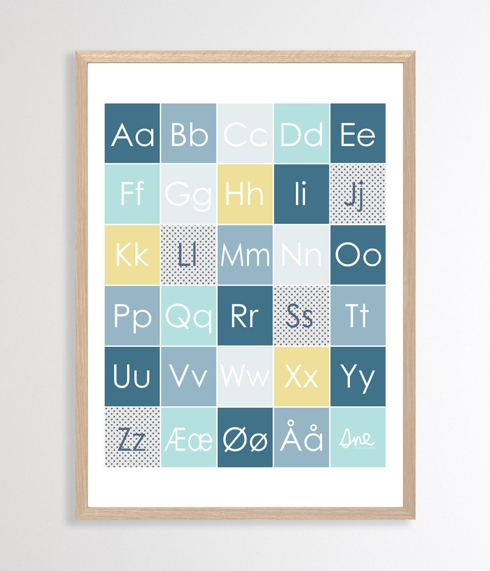 Happy Forest Alphabet Poster Posters Sne Design Blue