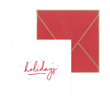 Happy Holidays Card (Champagne Foil) Christmas Cards Pine On Paper