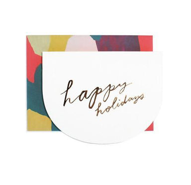 Happy Holidays Crescent Greeting Card Christmas Cards Moglea