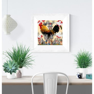 Happy Rooster Print Local Prints Hollis Carney Art
