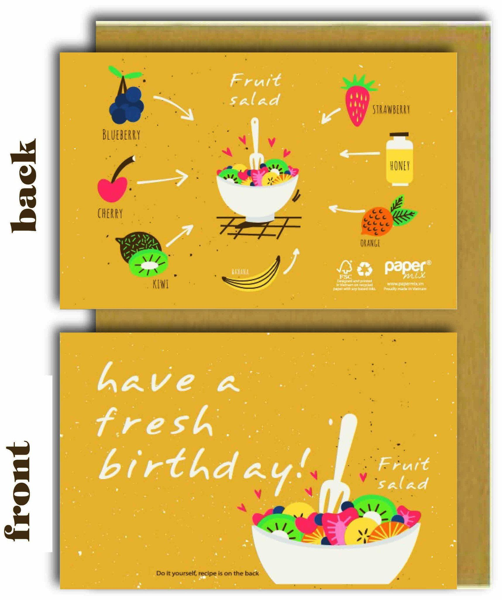 Have A Fresh Birthday (Fruit Salad) Greeting Card - Naiise