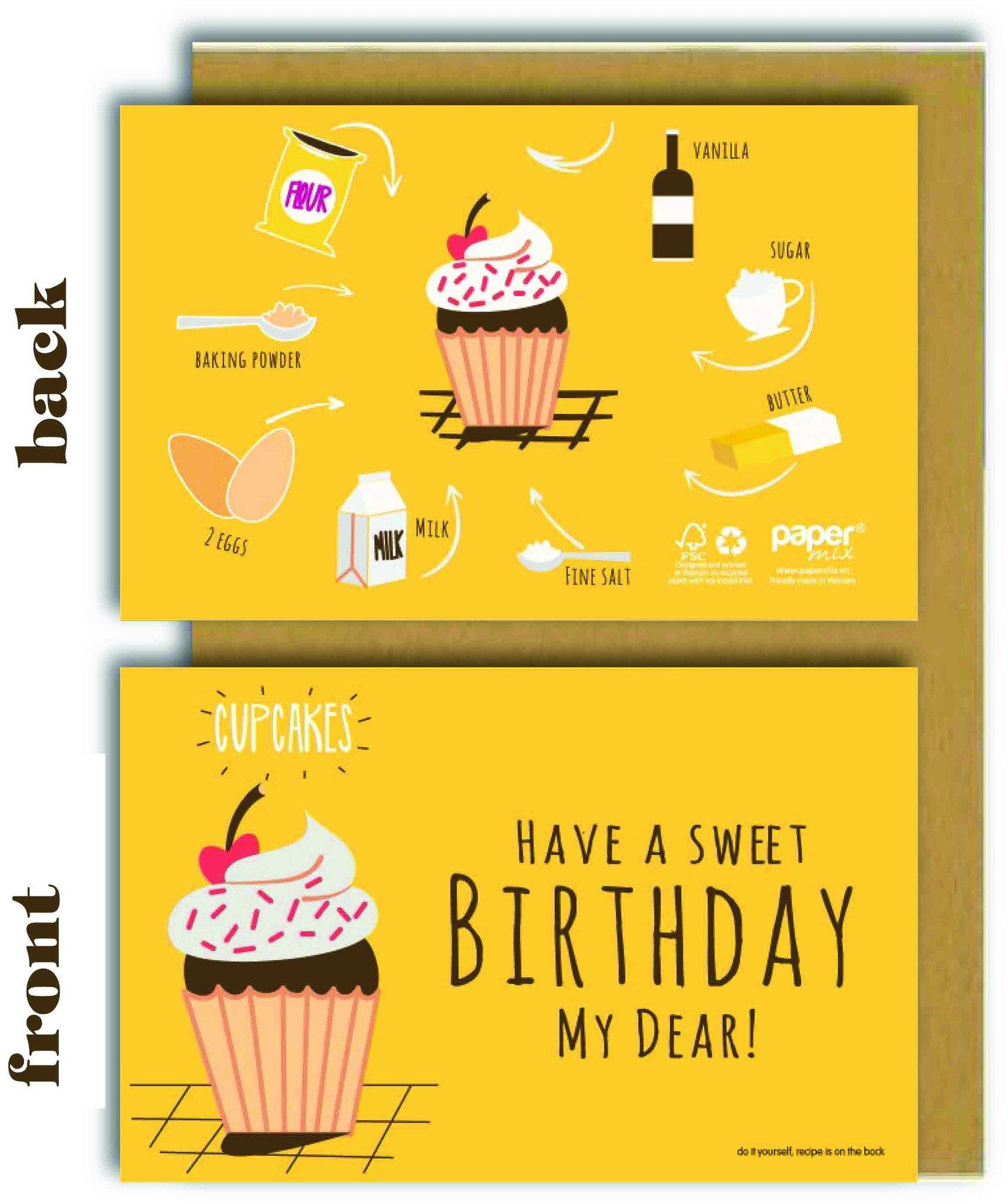 Have A Sweet Birthday (Cupcake) Greeting Card - Birthday Cards - Papermix - Naiise