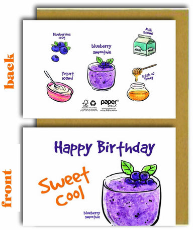 Have a Sweet Cool Birthday (Blueberry Smoothie) Greeting Card - Birthday Cards - Papermix - Naiise