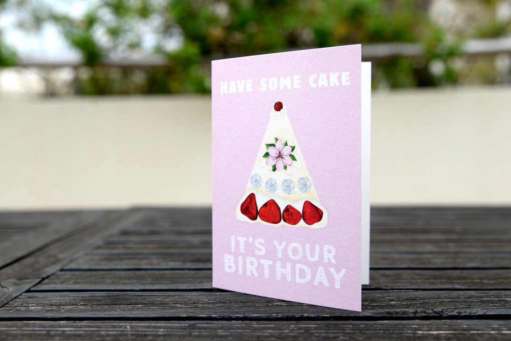 Have Some Cake Greeting Card Birthday Cards The Kardiacs