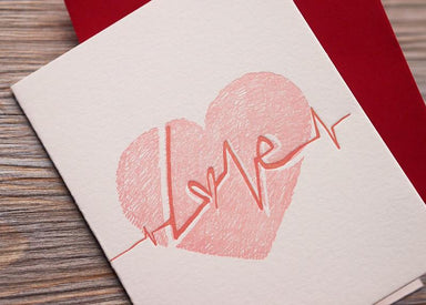 Heartbeat Love Card - Love Cards - ditto ditto - Naiise