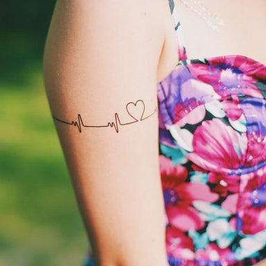 Heartbeats Temporary Tattoo - Temporary Tattoos - Habitatt Supply Co - Naiise