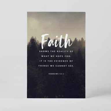 Hebrews 11:1 Postcard Postcards Actseed Co.