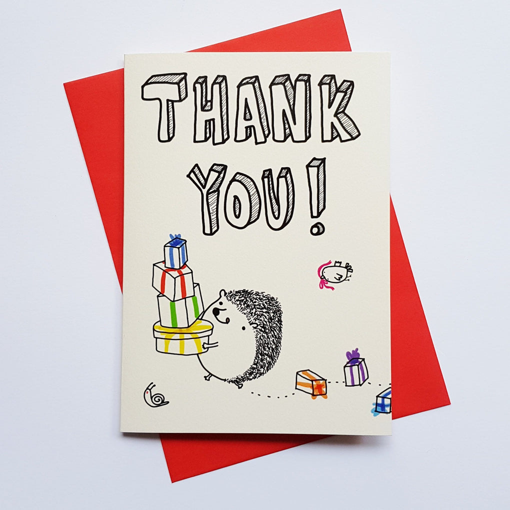 Hedgehog – Thank you Thank You Cards Steak & Eggs Please