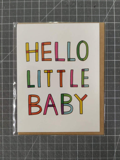 Hello Little Baby Card New Baby Cards Fevrier Designs