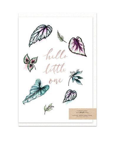 Hello Little One - New Baby Cards - Typoflora - Naiise