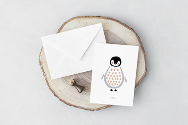 Hello Penguin Card Generic Greeting Cards YOUNIVERSE DESIGN