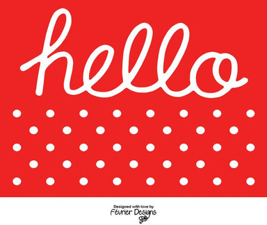 Hello Polka Card - Generic Greeting Cards - Fevrier Designs - Naiise