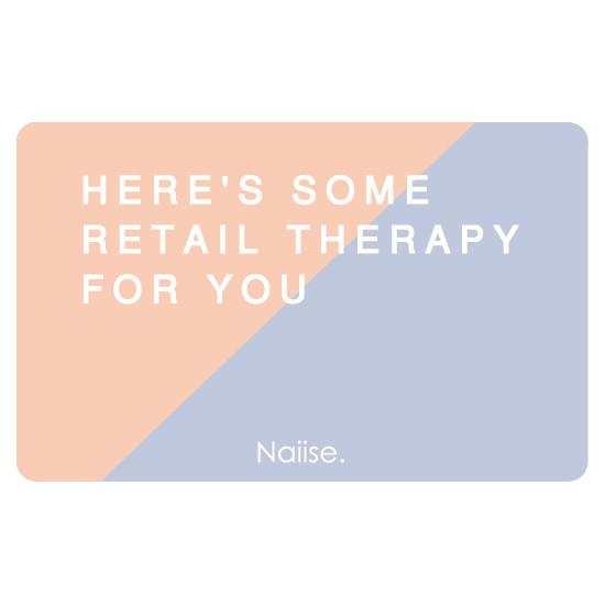 Here's Some Retail Therapy Gift Card Gift Cards Naiise