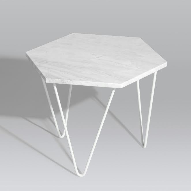 Hex Coffee Table (White Marble) (Pre-Order) - Tables - Snap Design Co - Naiise