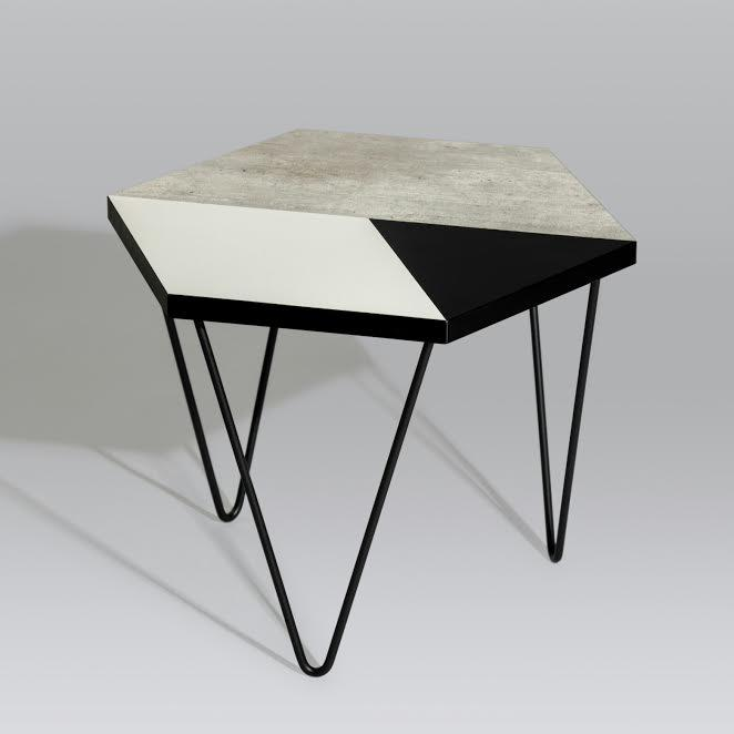 Hex Coffee Table (Wood) Tables Snap Design Co