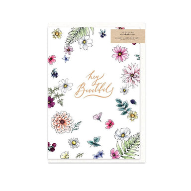 Hey Beautiful Card - Generic Greeting Cards - Typoflora - Naiise