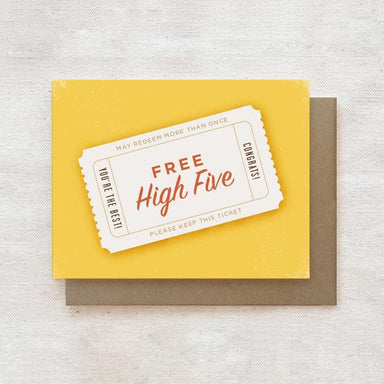 High Five - Congratulations Greeting Card Congratulations Cards Quirky Paper Co.