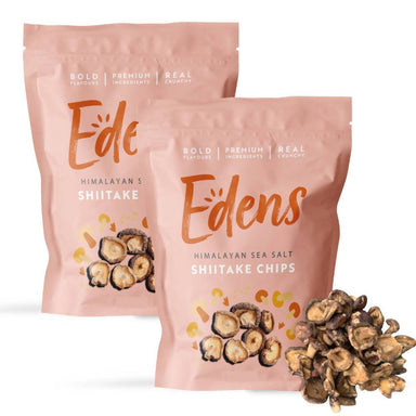 Himalayan Sea Salt Shiitake Chips Bundle (2 Packs) - Local Snacks - EDENS - Naiise