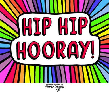Hip Hip Hooray Card Congratulations Cards Fevrier Designs