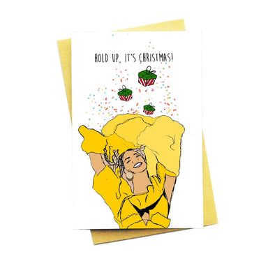 Hold Up, It's Christmas! Greeting Card - Christmas Cards - Nocturnal Paper - Naiise
