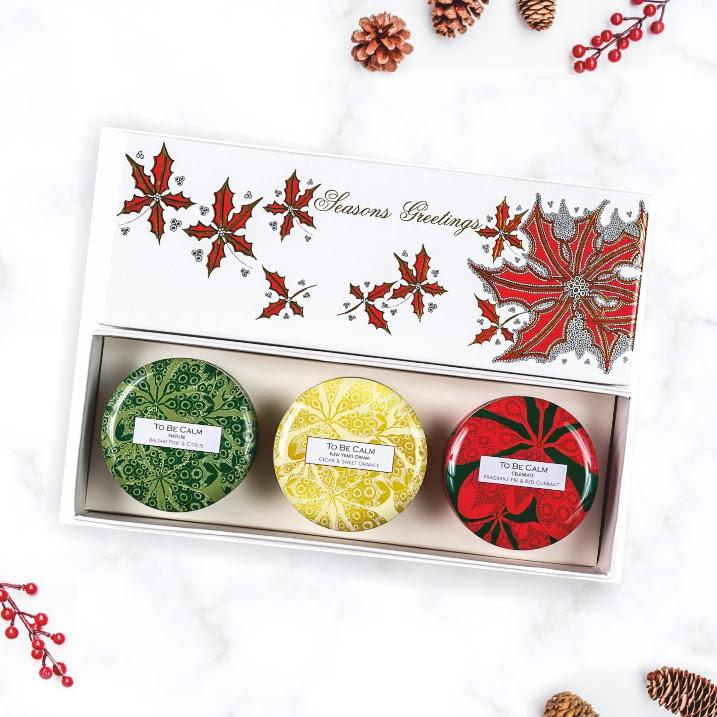 Holly Christmas - Mini Candle Trio Scented Candles To Be Calm