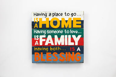 Home Family Blessing Wall Art - WWS007 Art RAW