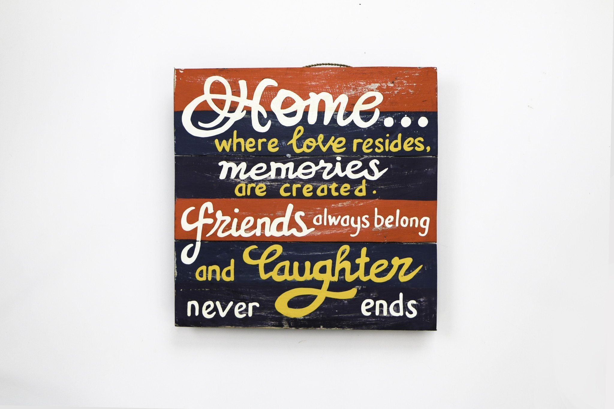 Home Memories Friends and Laughter Wall Art - WWS008 - Art - RAW - Naiise