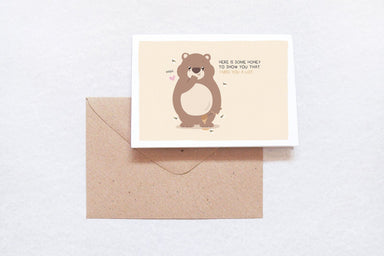 Honey bear - Love Cards - TispyTopsy - Naiise