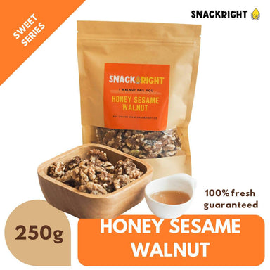 Honey Sesame Walnut 250g - Snacks - SnackRight - Naiise